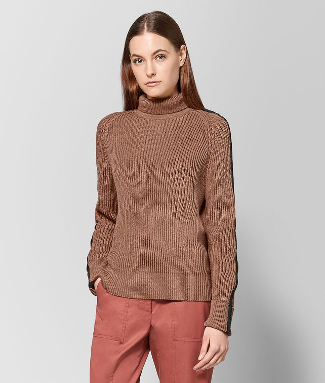 BOTTEGA VENETA DESERT ROSE COTTON SWEATER Knitwear or Top or Shirt Woman fp