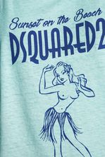 DSQUARED2 Sunset On The Beach Tank Top Top Woman