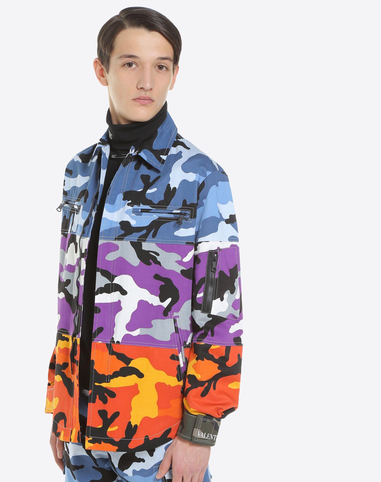 VALENTINO Camoushuffle shirt jacket Shirt U a