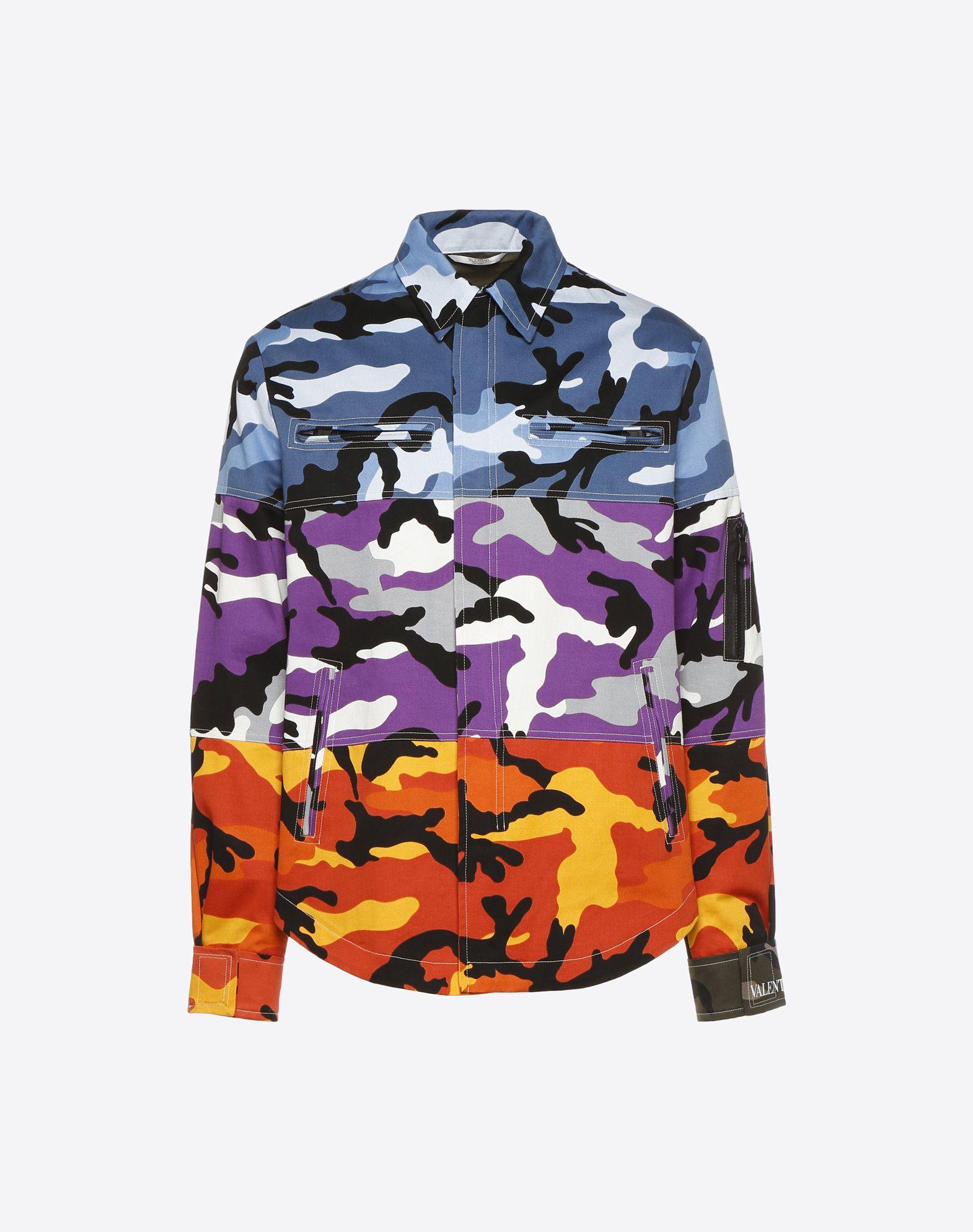 VALENTINO Sobrecamisa Camoushuffle  Camisa U f