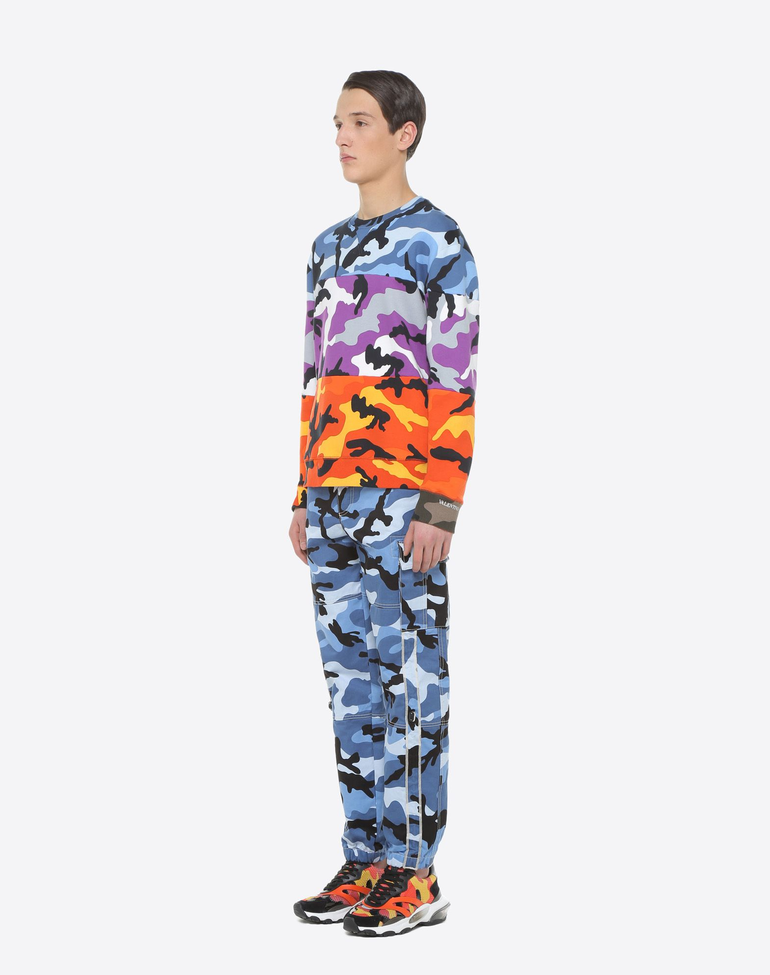 VALENTINO Camoushuffle crew-neck sweatshirt Sweatshirt U d