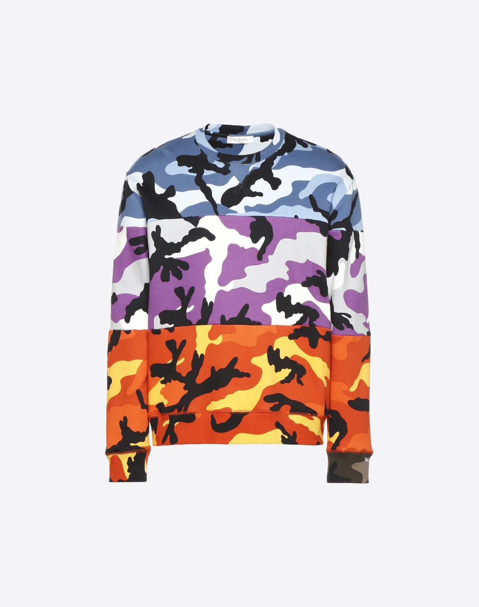 VALENTINO Camoushuffle crew-neck sweatshirt Sweatshirt U f
