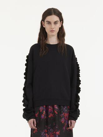 Ruffle Sweatshirt