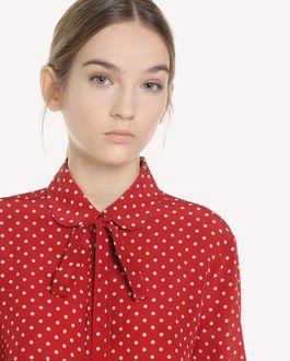 REDValentino Polka-dot print silk shirt