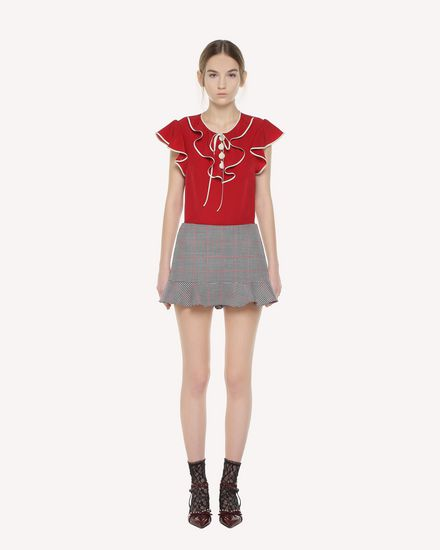 REDValentino Top Woman QR3AE0S12MJ CHA f