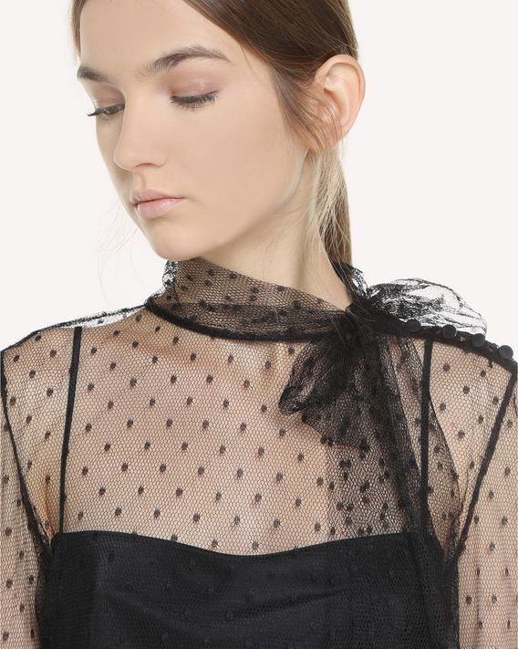 REDValentino Point d'Esprit Tulle top