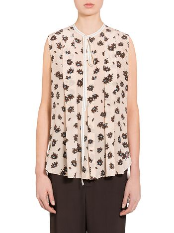 Marni Silk top with Frank Navin Petals print Woman