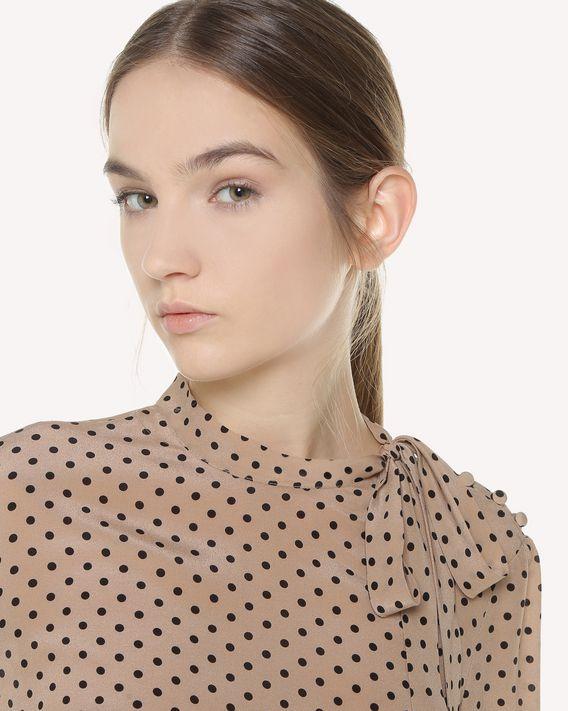 REDValentino Polka dot printed Silk top