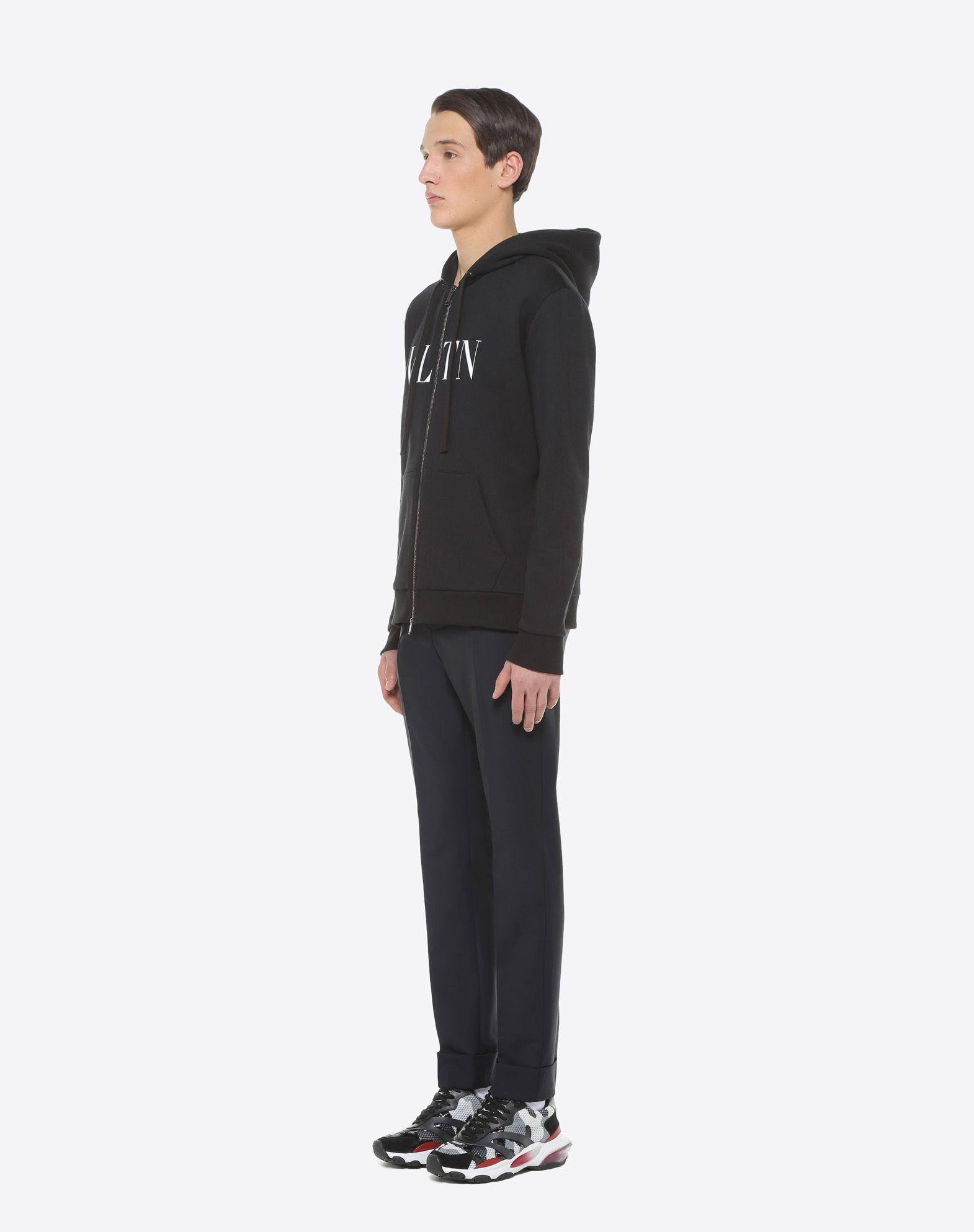 VALENTINO UOMO Sweatshirt with VLTN hood Sweatshirt U d