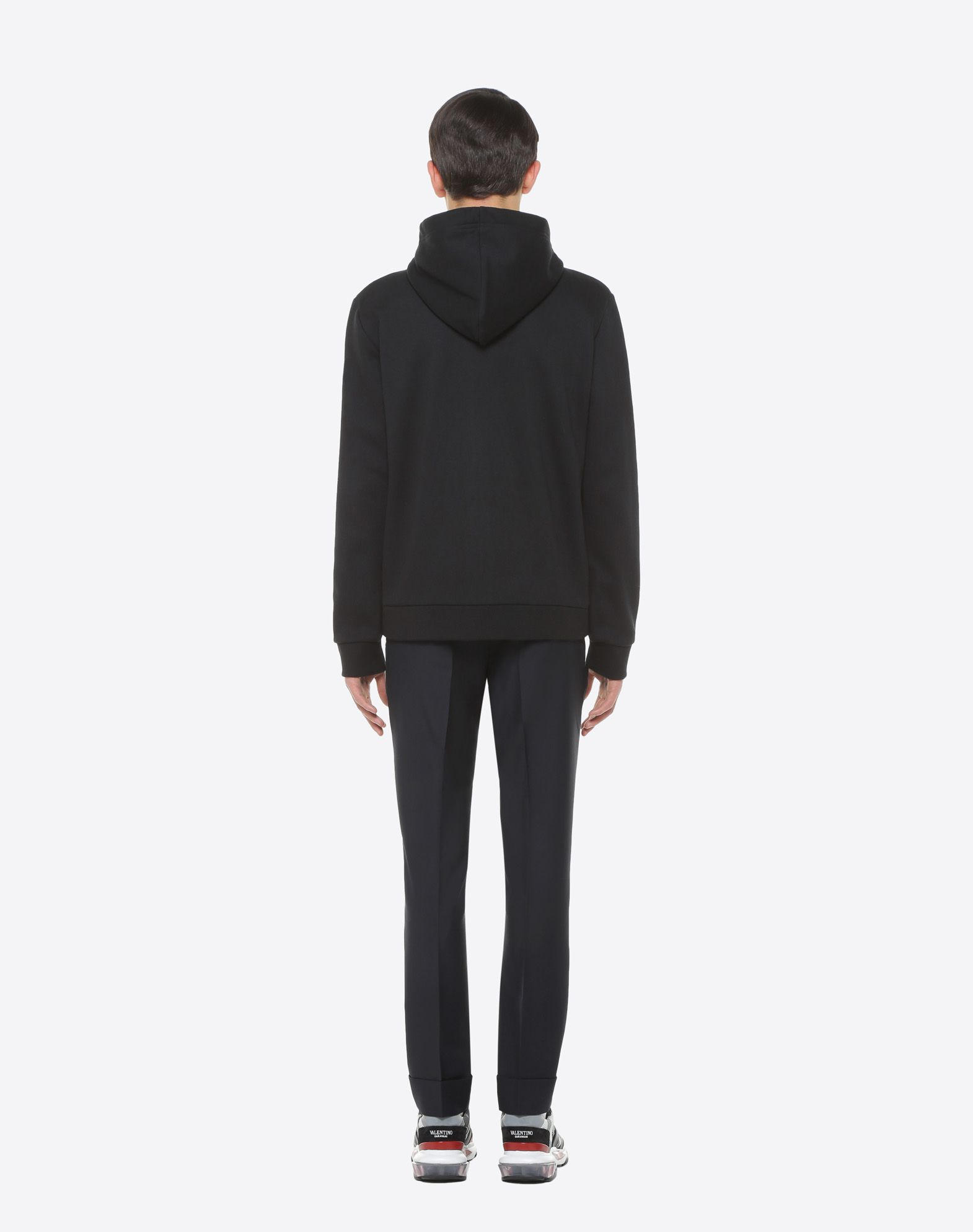 VALENTINO UOMO Sweatshirt with VLTN hood Sweatshirt U e