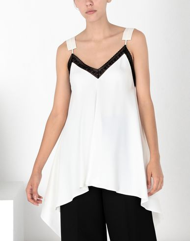 MM6 MAISON MARGIELA Top Woman Satin top with contrasting trim f