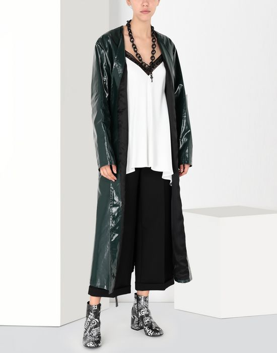 MM6 MAISON MARGIELA Satin top with contrasting trim Top [*** pickupInStoreShipping_info ***] r