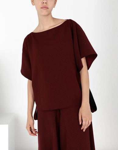 MM6 MAISON MARGIELA Top Woman Jersey top with removable belt f