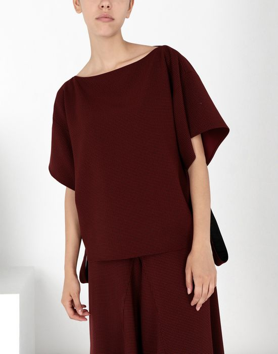 MM6 MAISON MARGIELA Jersey top with removable belt Top Woman f