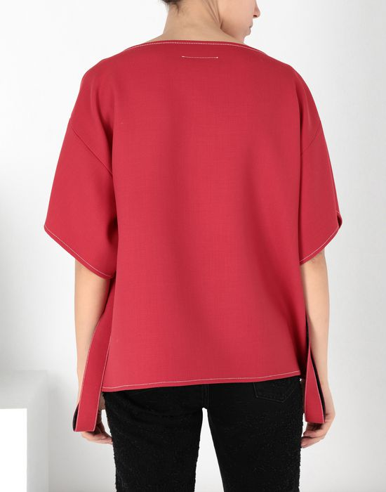 MM6 MAISON MARGIELA Techno-wool top with removable belt Top [*** pickupInStoreShipping_info ***] d