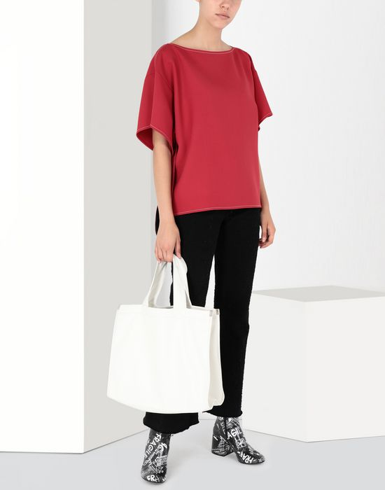 MM6 MAISON MARGIELA Techno-wool top with removable belt Top [*** pickupInStoreShipping_info ***] r