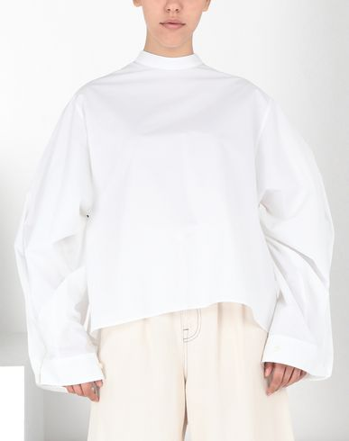 MM6 MAISON MARGIELA Top Woman Poplin top with flared sleeves f