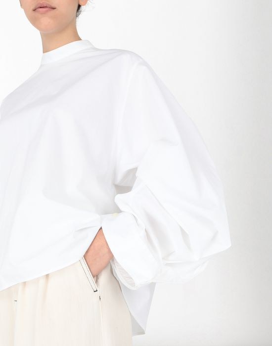 MM6 MAISON MARGIELA Poplin top with flared sleeves Top [*** pickupInStoreShipping_info ***] a