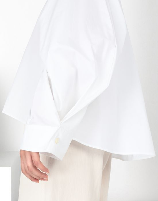 MM6 MAISON MARGIELA Poplin top with flared sleeves Top [*** pickupInStoreShipping_info ***] e