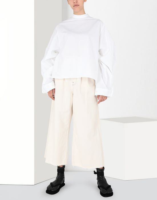 MM6 MAISON MARGIELA Poplin top with flared sleeves Top [*** pickupInStoreShipping_info ***] r