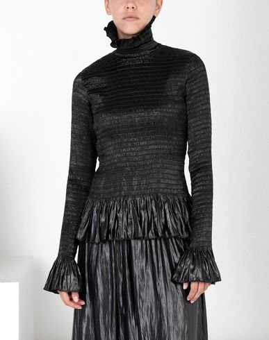 MM6 MAISON MARGIELA Top [*** pickupInStoreShipping_info ***] Fluid satin ruffle top f