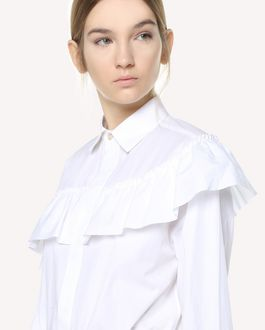 REDValentino Ruffle detailed Light Cotton Poplin shirt