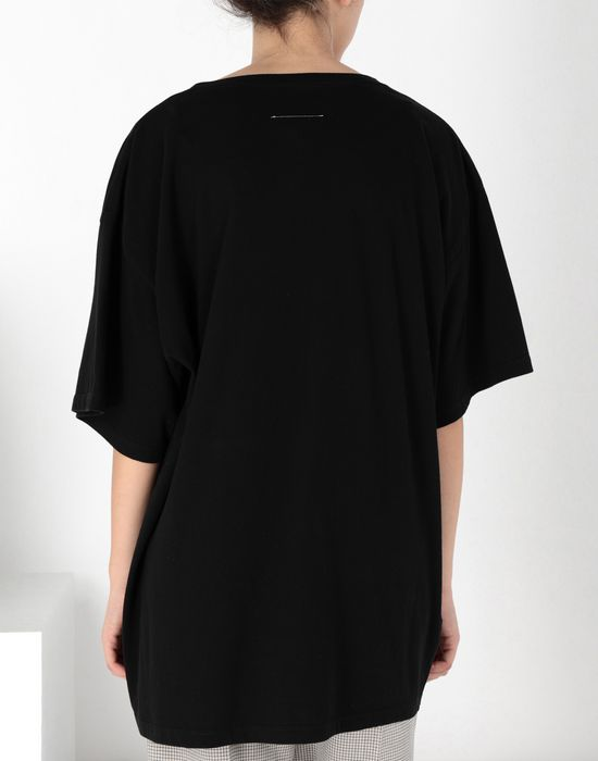 MM6 MAISON MARGIELA Oversized printed cotton top Short sleeve t-shirt [*** pickupInStoreShipping_info ***] d