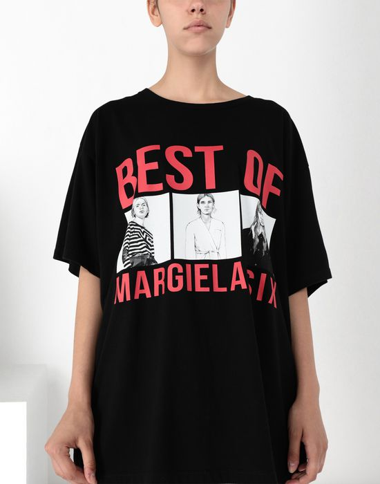 MM6 MAISON MARGIELA Oversized printed cotton top Short sleeve t-shirt [*** pickupInStoreShipping_info ***] e