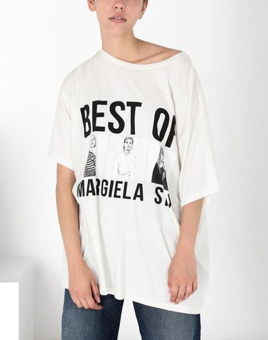 MM6 MAISON MARGIELA Short sleeve t-shirt Woman Oversized printed cotton top f