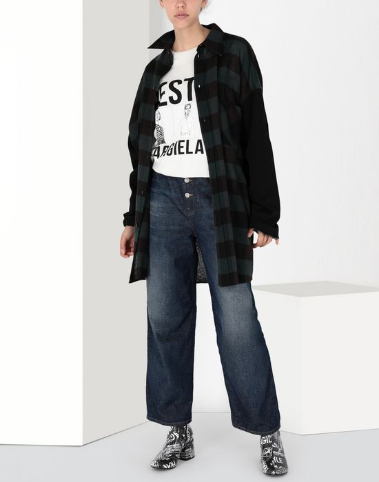 MM6 MAISON MARGIELA Oversized printed cotton top Short sleeve t-shirt [*** pickupInStoreShipping_info ***] r