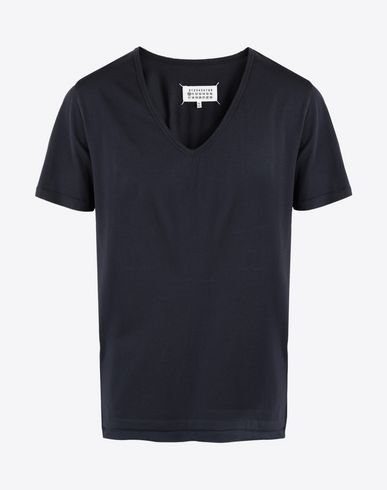 MAISON MARGIELA Short sleeve t-shirt Man Jersey v-neck T-shirt f