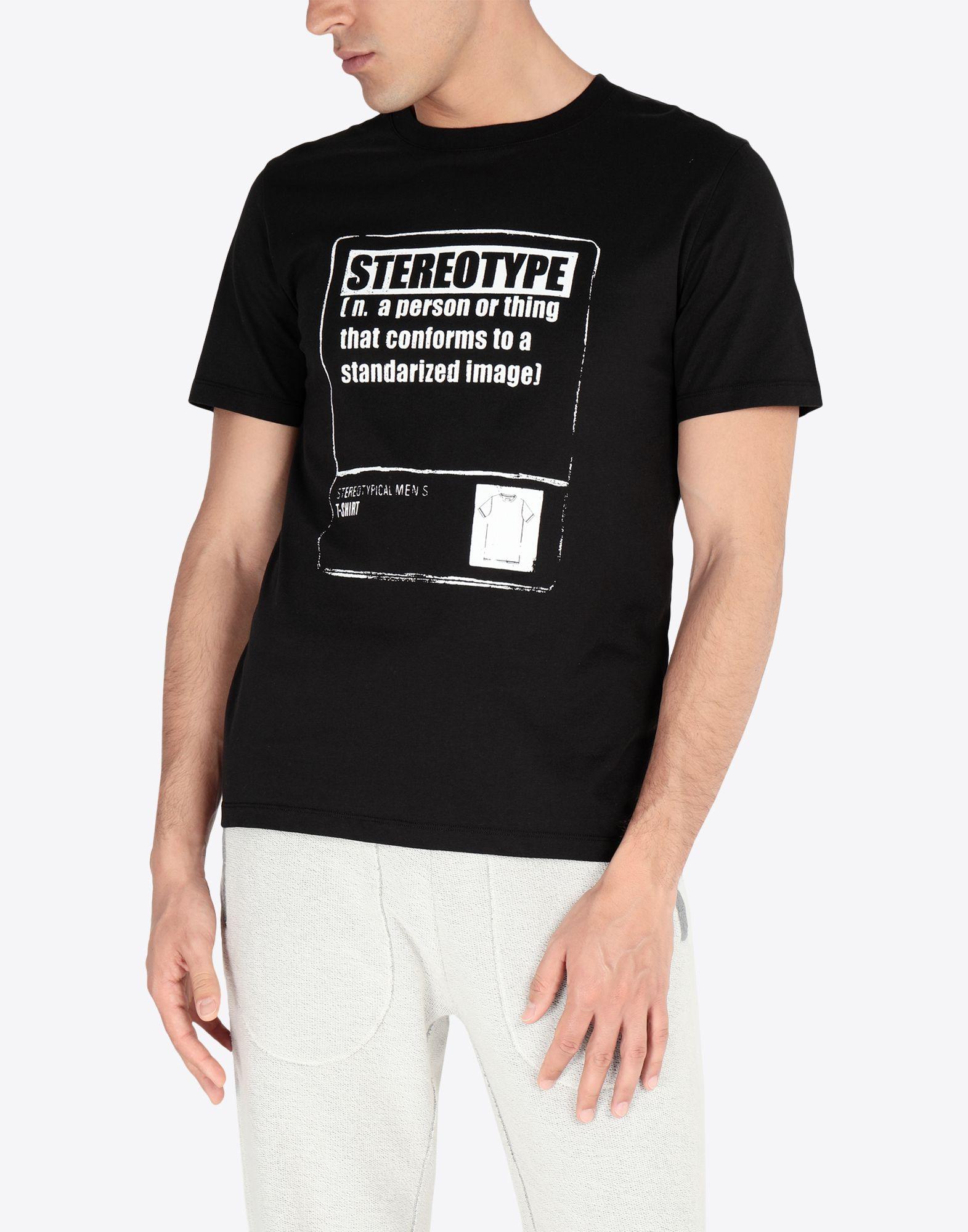 MAISON MARGIELA Stereotype' コットンTシャツ T シャツ メンズ r