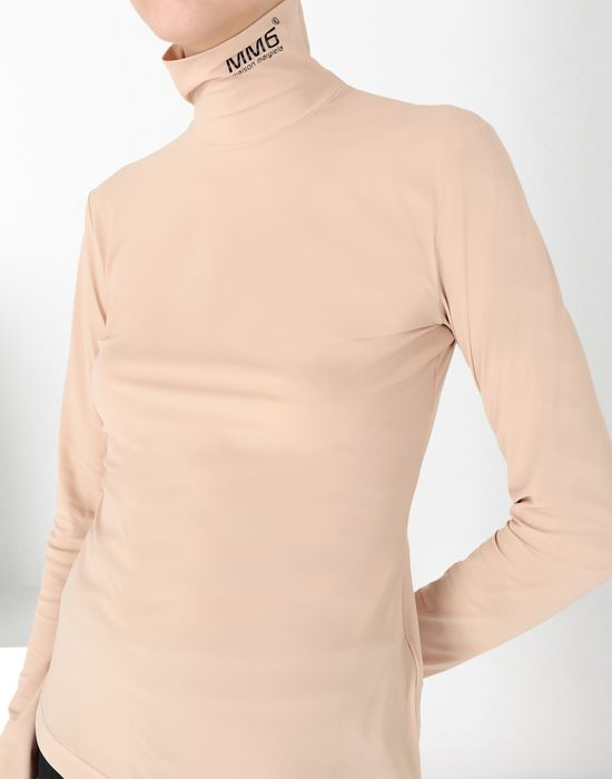 MM6 MAISON MARGIELA Logo-print turtleneck top Long sleeve t-shirt [*** pickupInStoreShipping_info ***] e
