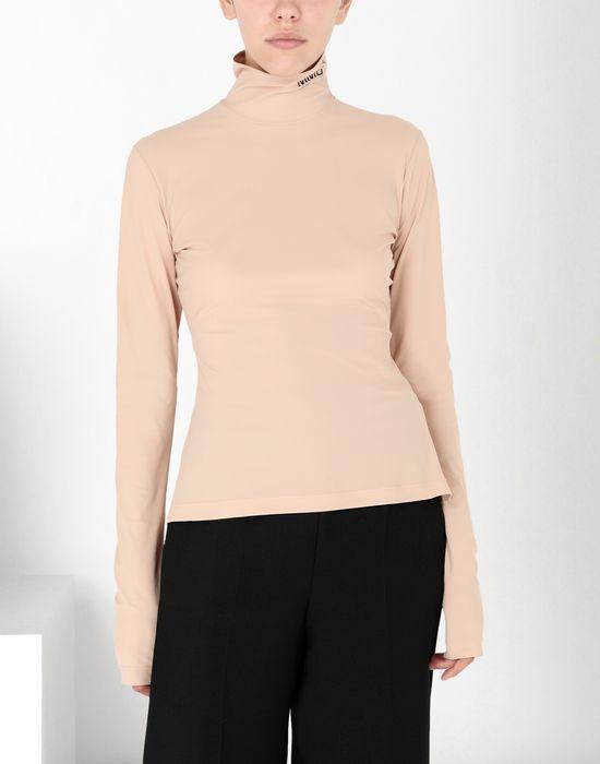 MM6 MAISON MARGIELA Logo-print turtleneck top Long sleeve t-shirt [*** pickupInStoreShipping_info ***] f