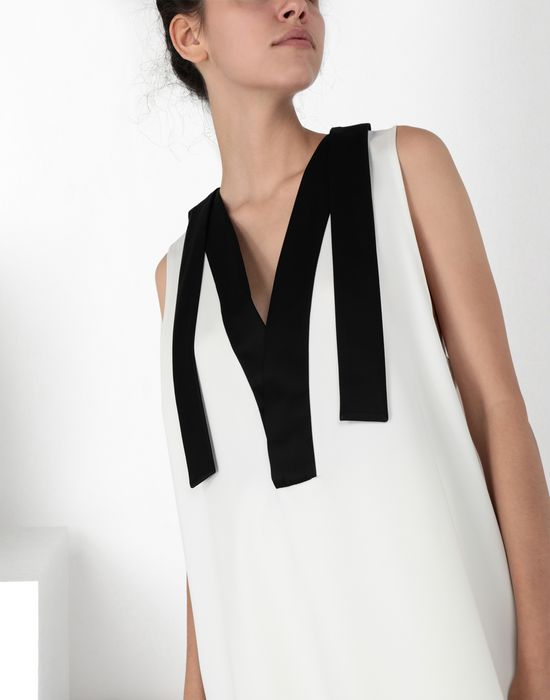 "MM6 MAISON MARGIELA ""V"" neck top with straps Top [*** pickupInStoreShipping_info ***] e"