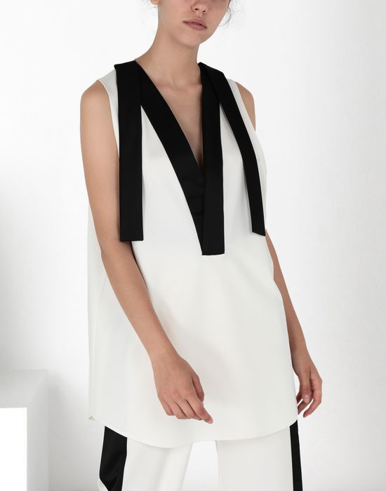 "MM6 MAISON MARGIELA ""V"" neck top with straps Top [*** pickupInStoreShipping_info ***] f"