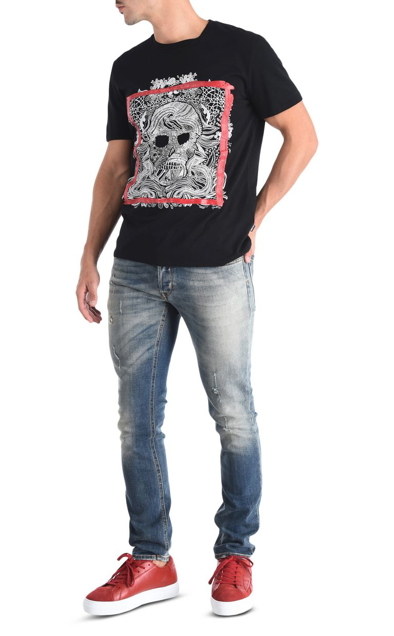JUST CAVALLI Skull T-shirt Short sleeve t-shirt [*** pickupInStoreShippingNotGuaranteed_info ***] r