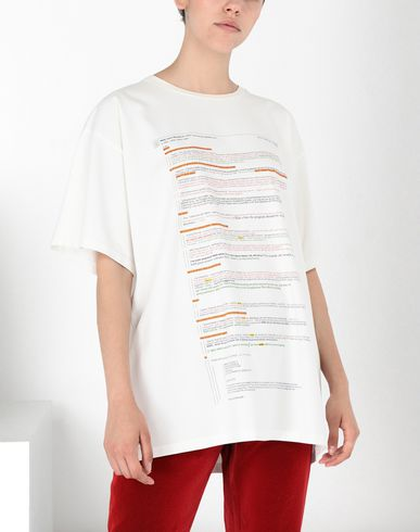 MM6 MAISON MARGIELA Short sleeve t-shirt Woman E-Mail Chain' print T-shirt f