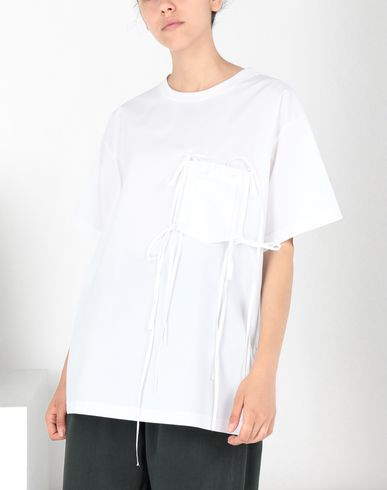MM6 MAISON MARGIELA Top Woman Tie knot pocket T-shirt f