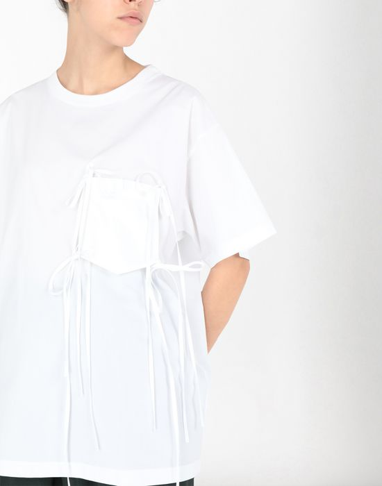 MM6 MAISON MARGIELA Tie knot pocket T-shirt Top [*** pickupInStoreShipping_info ***] e