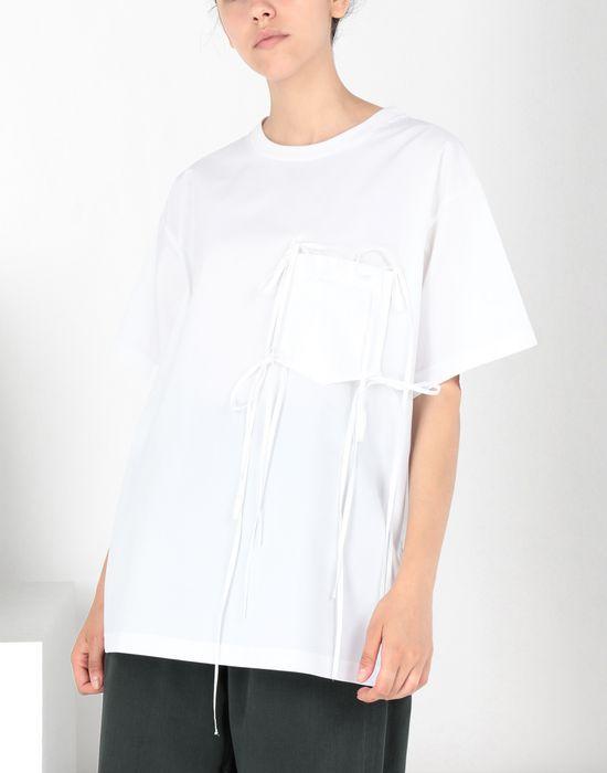 MM6 MAISON MARGIELA Tie knot pocket T-shirt Top [*** pickupInStoreShipping_info ***] f