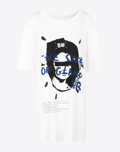 MAISON MARGIELA Short sleeve t-shirt Woman Printed jersey T-shirt f