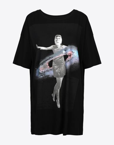MAISON MARGIELA Short sleeve t-shirt Woman Galaxy' printed jersey T-shirt f