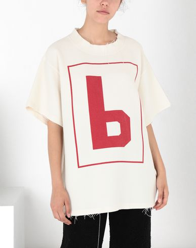 MM6 MAISON MARGIELA Short sleeve t-shirt Woman '6' logo print T-shirt f