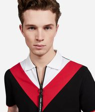 KARL LAGERFELD Colour Block Zip Neck Polo  9_f