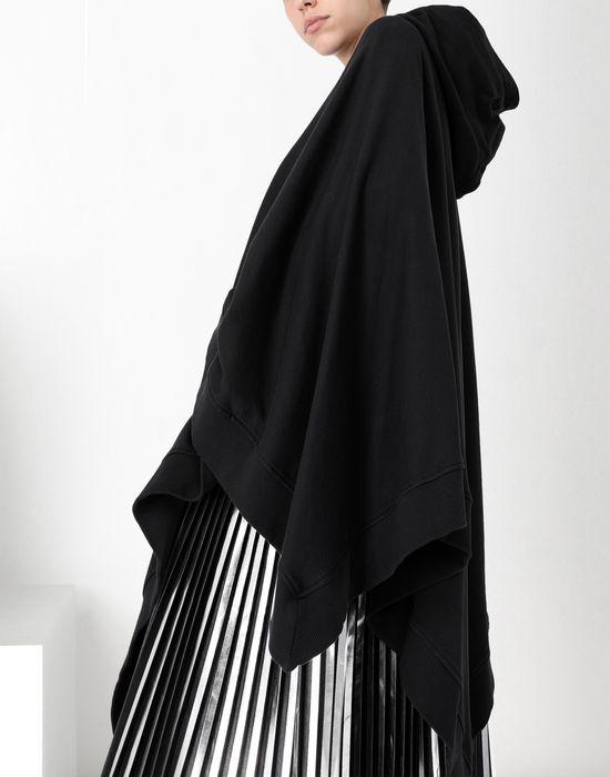 MM6 MAISON MARGIELA Asymetric hooded sweatshirt poncho Top [*** pickupInStoreShipping_info ***] a