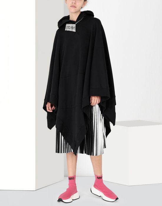 MM6 MAISON MARGIELA Asymetric hooded sweatshirt poncho Top [*** pickupInStoreShipping_info ***] r