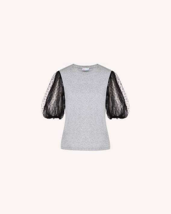 REDValentino Tulle sleeve T-shirt