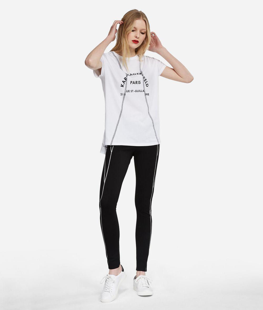 KARL LAGERFELD Embroidered Address T-Shirt T-shirt Woman f