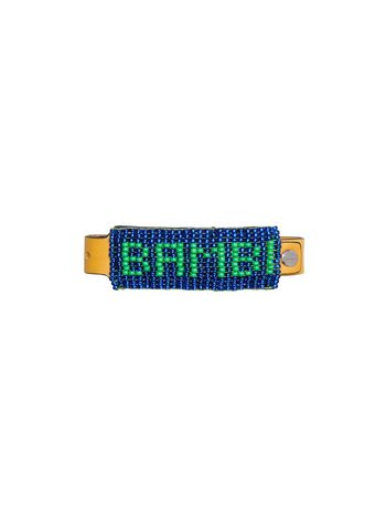 Marni Leather and bead bracelet with BAMBI lettering Man
